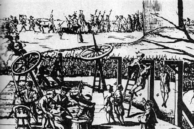 Рис. 5. Казнь предводителей восстания