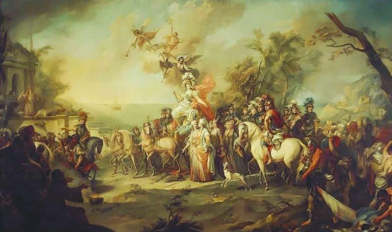 Рис. 6. Аллегория на победу Екатерины II над турками