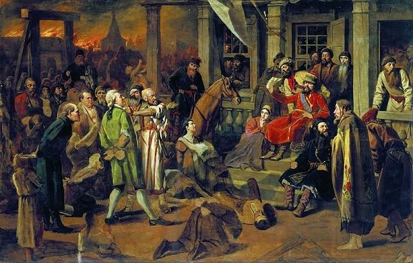 Рисунок 3. Взятие повстанцами Татищевой крепости