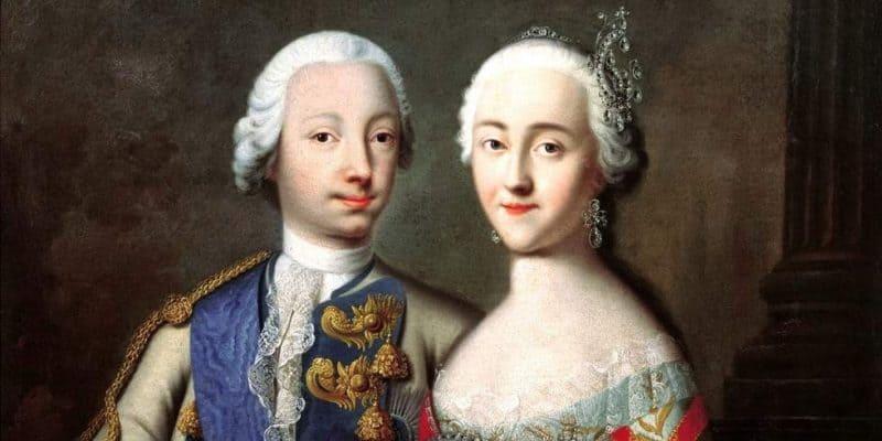 Рис. 1 Родители Павла Петровича — Петр III и Екатерина II