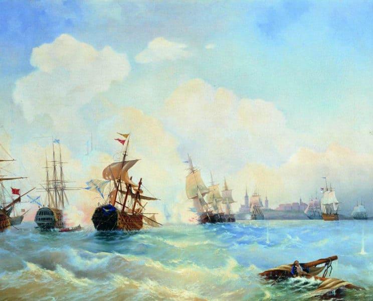 Фото 3. Ревельский бой 2 мая 1790 года А. П. Боголюбов