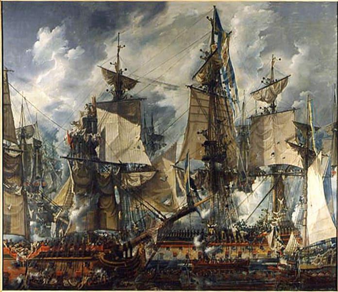 Фото 2.   Гогландское сражение Луи-Жан Депре