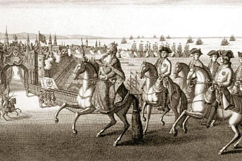 Рис. 2. Императрица в Севастополе, гравюра