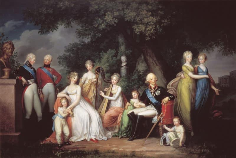 Рис.2. Император в кругу семьи, картина