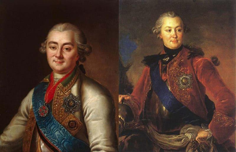 Рис. 4. Алексей (слева) и Григорий (справа) Орловы