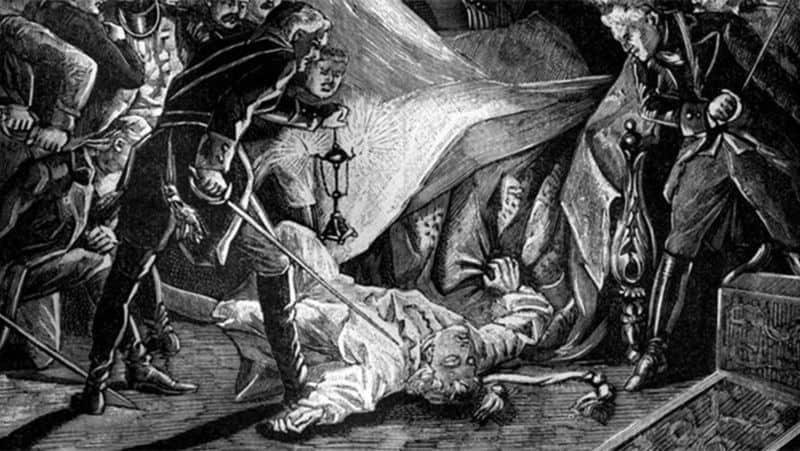 Рис. 3 Гравюра «Убийство Павла I»