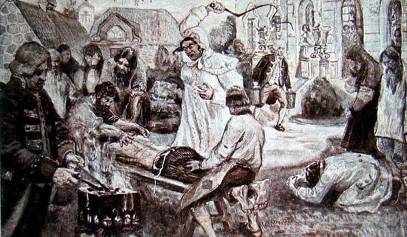 Рис. 2. Пытки Салтычхи