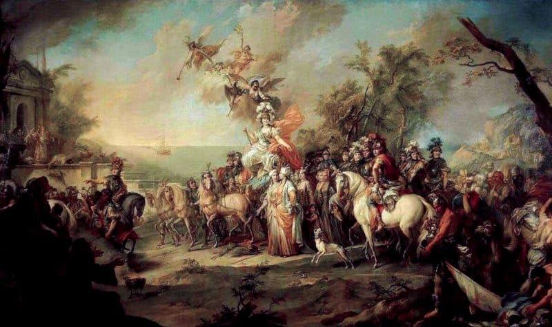 Рис. 1 Аллегория победы Екатерины II над султаном Османской империи