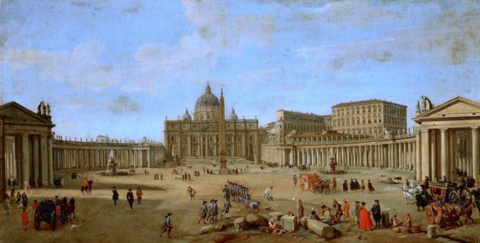 Вид базилики Святого Петра, Рим.