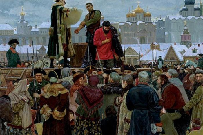 Казнь Емельяна Пугачёва.