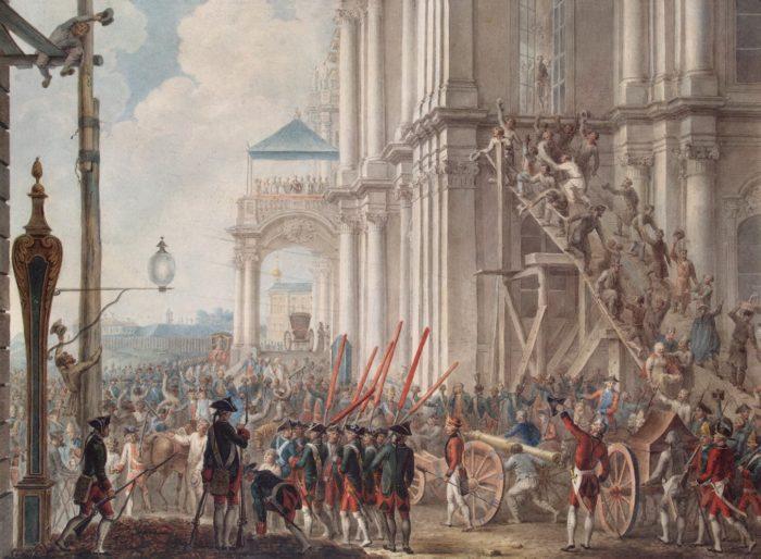 Дворцовый переворот 1762 года против Петра III.