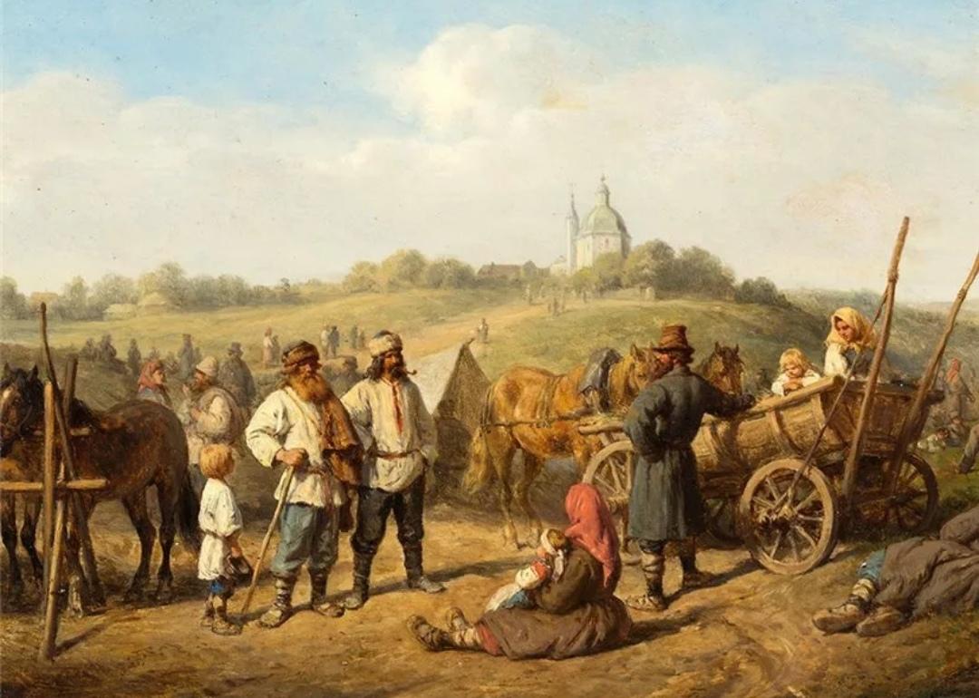 Крепостные крестьяне, 18 век.