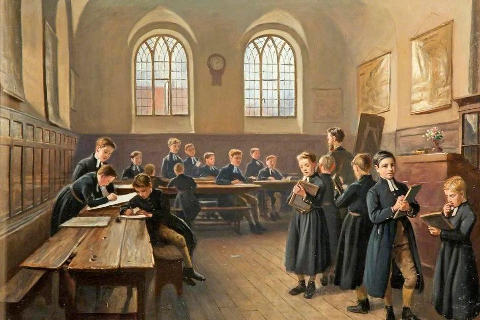 Школьники на перемене, когда не было смартфонов