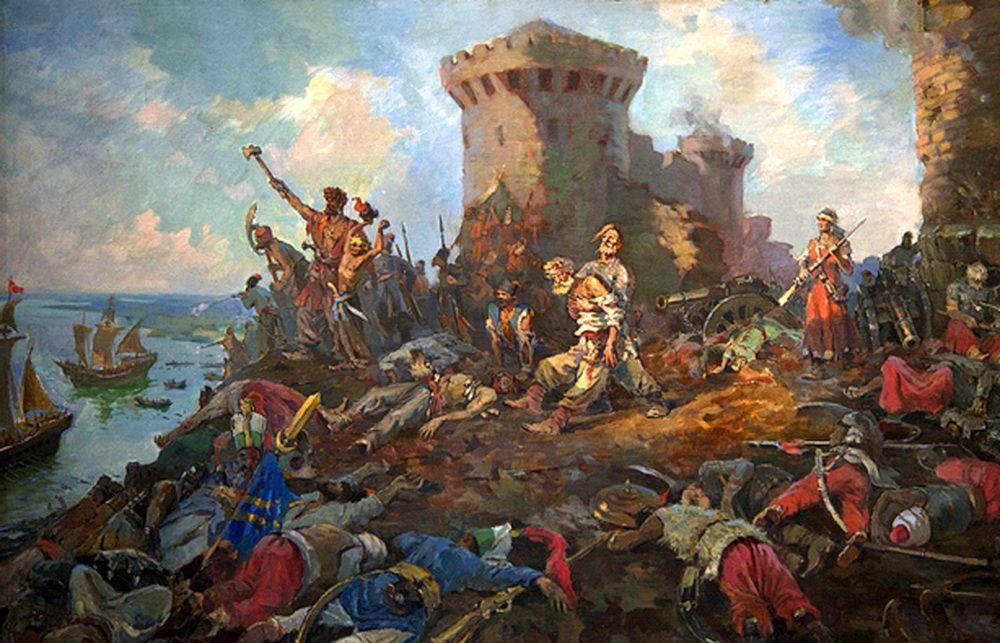 Захват Азова, Петром I.